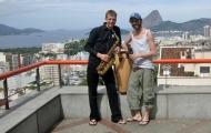 Hintergrundmusik-Saxophonist
