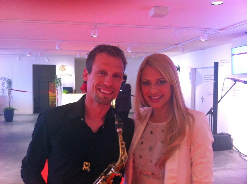 Saxophonist Begleitmusik Saxophon background live band